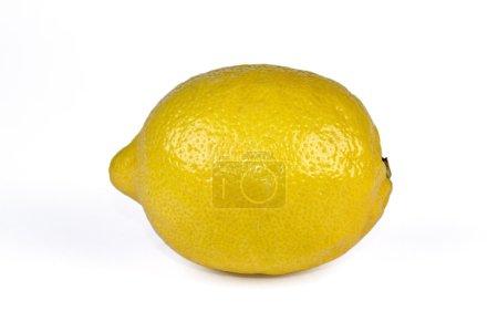 Photo for One and half ripe lemon. Isolated on white background - Royalty Free Image