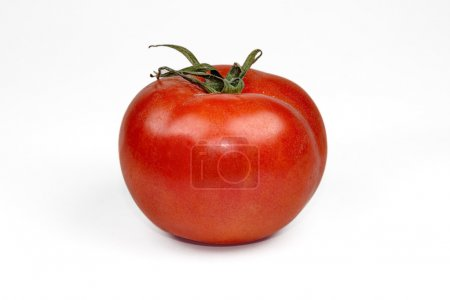 Photo for Ripe red  tomato isolated on white background - Royalty Free Image
