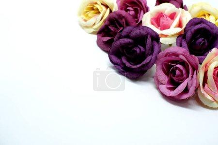 Photo pour Amour Valentines fond romantique. belles roses. - image libre de droit
