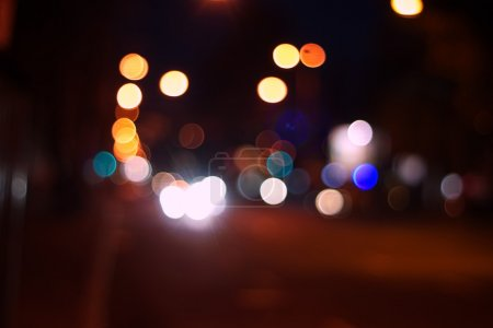 Night city abstract bokeh background...