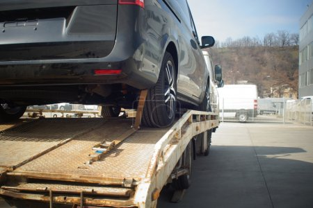 New car transported