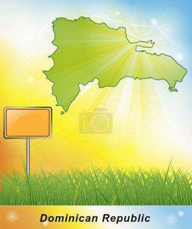 Photo pour Carte République dominicaine - image libre de droit