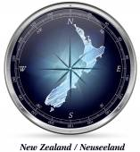Map of new zealand with borders