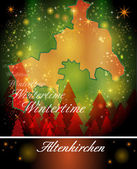 Map of Altenkirchen in Christmas Design