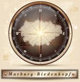 Mapa Marburg-Biedenkopf