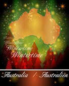 Map of Australia in Christmas Design