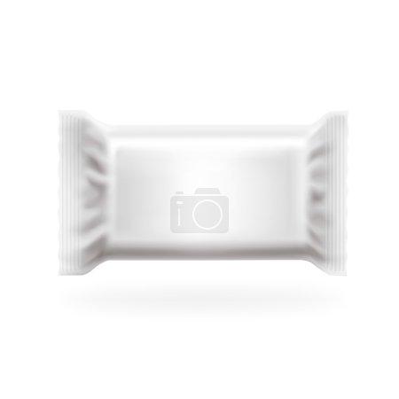Illustration pour Barre d'emballage en plastique Fat Cover Vector. Chocolat, gaufrettes, bonbons et paquet de bonbons. Facile à modifier en couches, haut détaillé avec des lumières et des ombres séparées. Mets ton graphique. . - image libre de droit