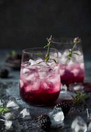 Blackberry Lemonade with lavender