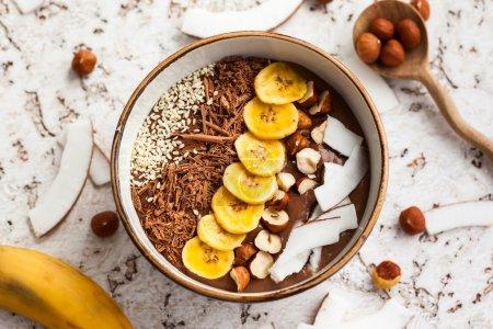 Chocolate Hazelnut Smoothie Bowl