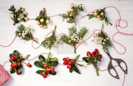 Making winter garlands
