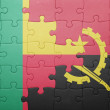 Постер, плакат: Puzzle with the national flag of angola and benin