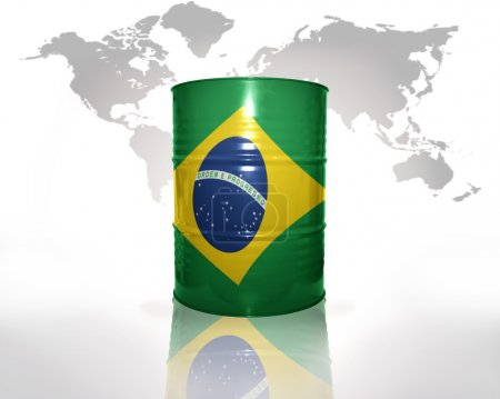 barrel with brazilian flag