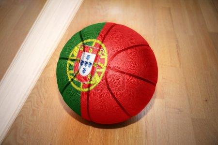 basketball ball with the national flag of portugal