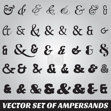 set of ampersands from different fonts