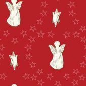 Angel  Seamless Christmas Pattern