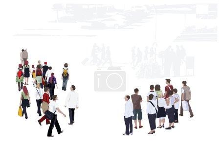 Bird's Eye View Of People Group