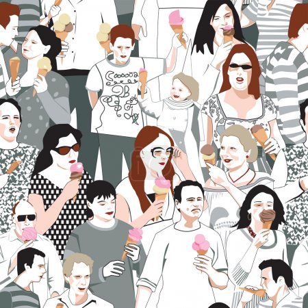 Ice Cream Eaters  Pattern