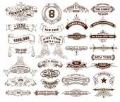 29 Labels and banners Vector