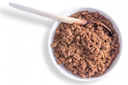 Savory ground or minced beef mixture for tacos