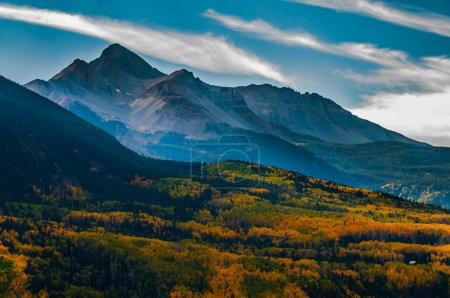 Wilson Peak in the fall, Uncompahgre National Forest, Colorado,