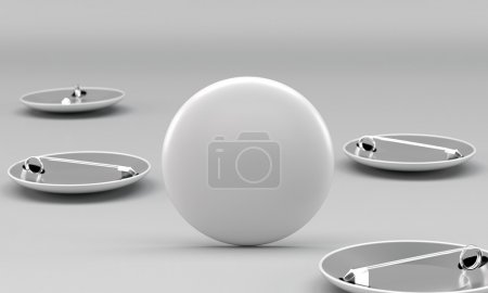 Photo for 3d render of round pins on bright background. Front view. - Royalty Free Image