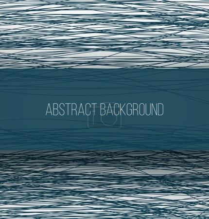 Foto de Líneas de boceto caóticas azules abstractas de fondo y banner rectángulo con ilustración de sombras - Imagen libre de derechos