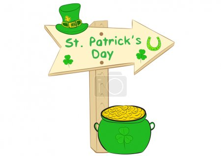 Road sign St. Patricks Day