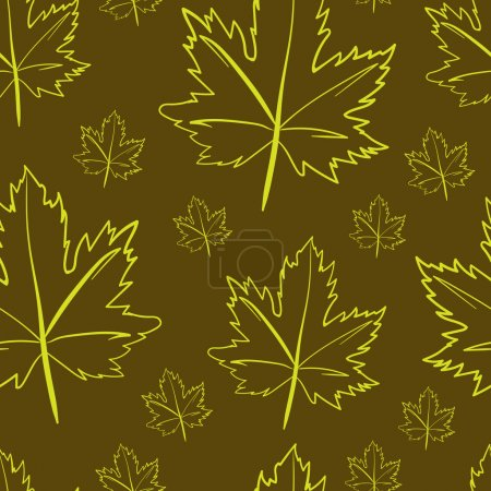 Contours of maple leaves