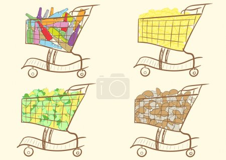 Carts with products