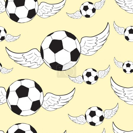 Seamless winged soccer balls
