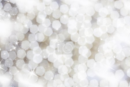 Photo for Abstract Christmas background with white snowflakes - Royalty Free Image