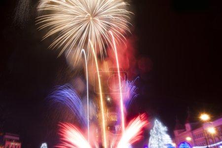 Foto de Coloridos fuegos artificiales - Imagen libre de derechos