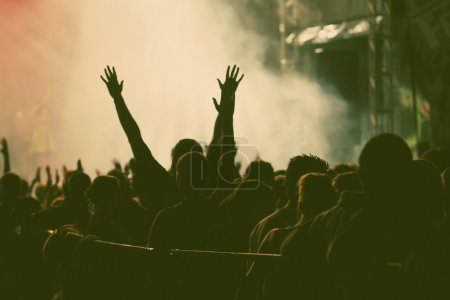 Photo for Crowd at concert - retro style photo - Royalty Free Image