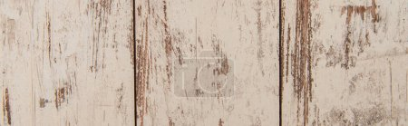 background of grungy, hardwood boards, painted in white, top view, banner