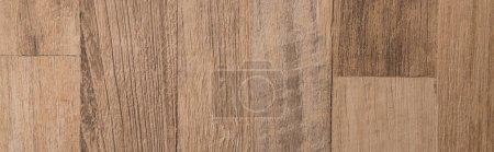 beige, wooden laminate flooring background, top view, banner