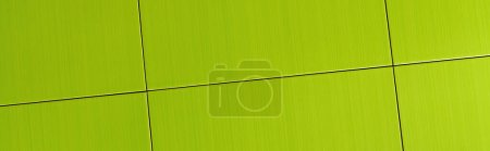 background of bright, green ceramic tiles, top view, banner