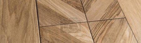 Photo pour Beige, fond texturé de plancher en bois, bannière - image libre de droit
