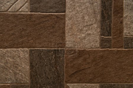background of natural stone grungy tiles, top view