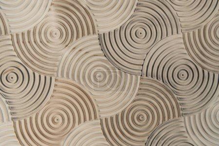 Steinhintergrund mit volumetrischem Spiralmuster, Draufsicht