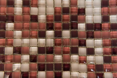 background of multicolored glass tiles, top view
