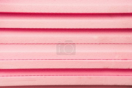 Photo for Background of stacked, pink expanded polystyrene - Royalty Free Image