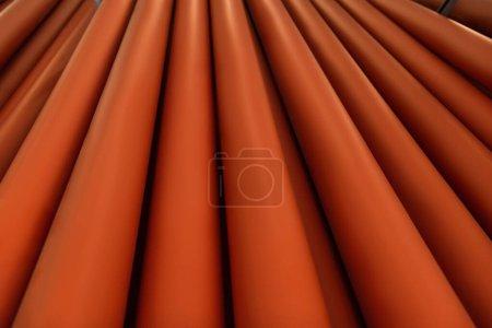 Photo pour Fond de tubes en plastique rouge brillant avec espace de copie - image libre de droit