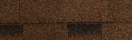 Photo for Top view of brown bituminous roofing tiles background, banner - Royalty Free Image