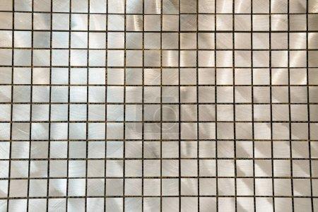 fond carrelage nacré gris, vue de dessus