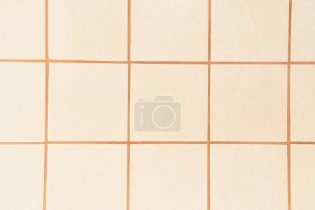 pastel pink, square tiles background, top view