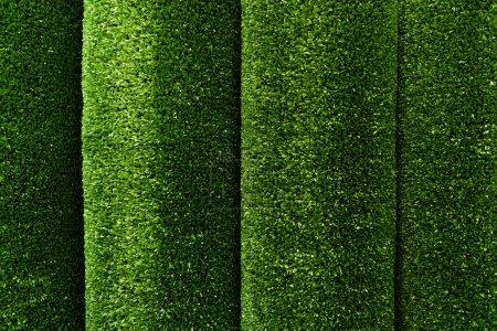 Photo pour Vert, gazon artificiel fond texturé, vue de dessus - image libre de droit