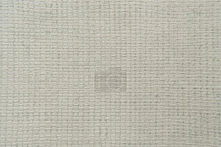 grey, textured background, with sackcloth imitation, top view