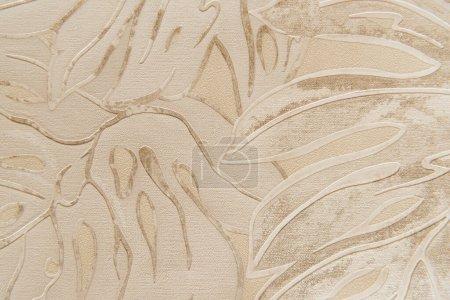 Photo pour Fond de papier peint avec motif floral en relief, vue de dessus - image libre de droit