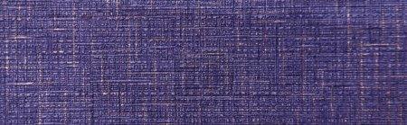 Photo pour Bleu vif, fond texturé, avec imitation sac, vue du dessus, bannière - image libre de droit