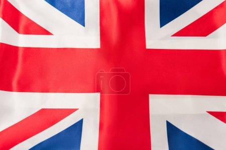 Photo pour Vue du haut du drapeau britannique avec croix rouge - image libre de droit